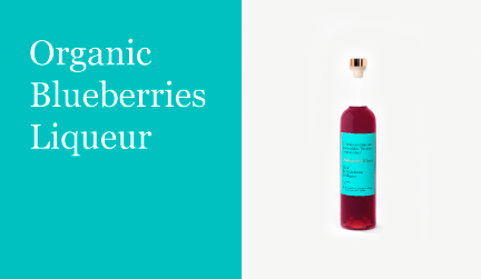 Organic blueberries liqueur justina
