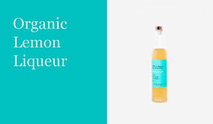 Organic lemon liqueur justina