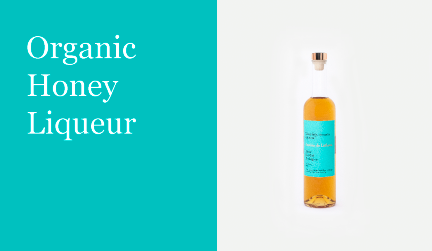 Organic honey liqueur justina