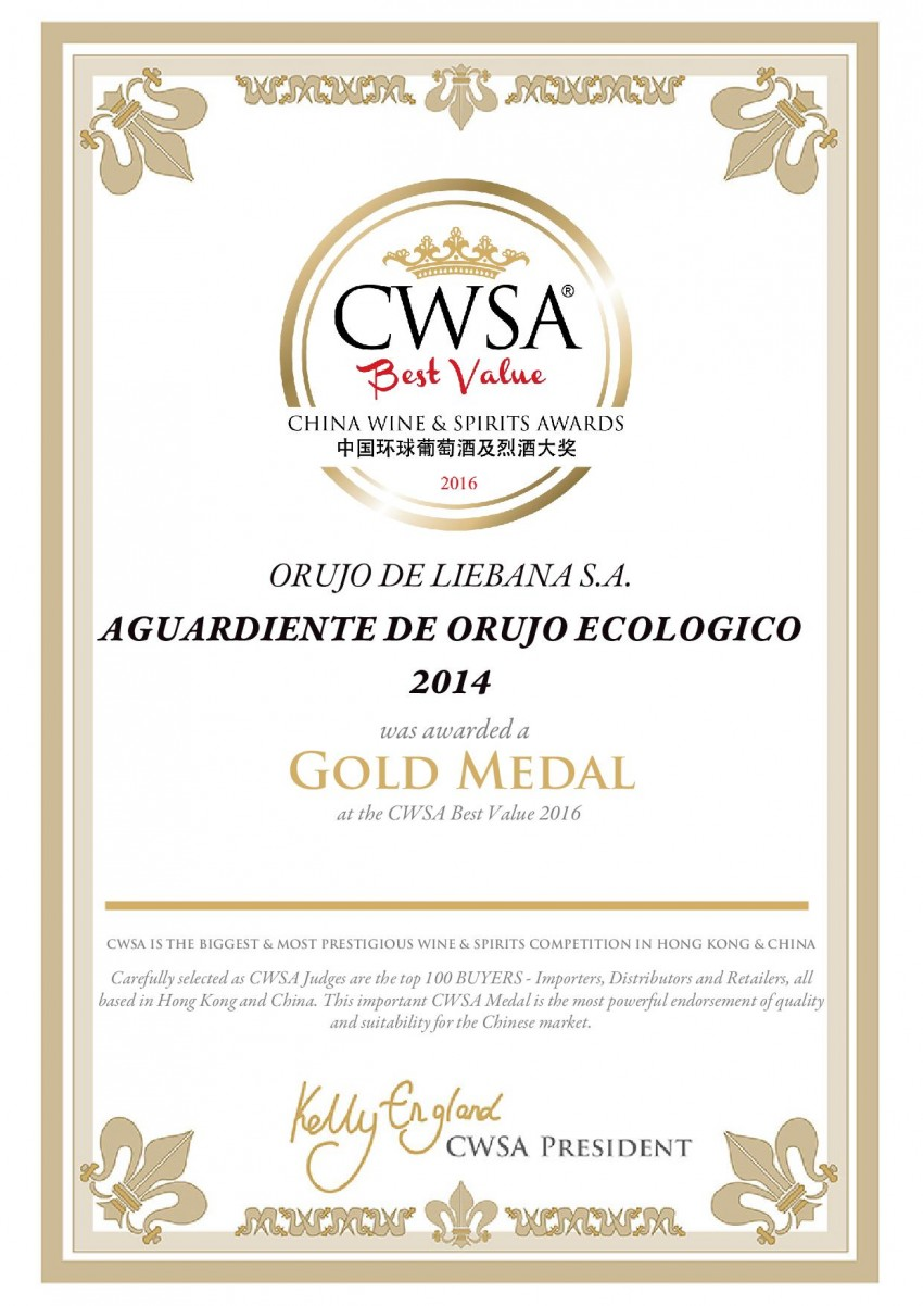 CWSA orujo ecologico