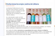 Financial Food publica la noticia del lanzamiento de Justina de Liébana