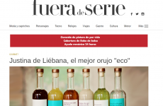 """Justina de Liébana , el mejor orujo """"eco"""" , en el periódico Expansión"""