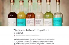 """""""Justina de Liébana , un orujo eco y gourmet"""" , en la revista Restauradores"""