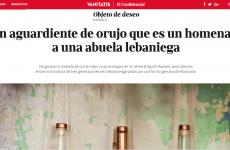 La revista Vanitatis , de El Confidencial , habla sobre nuestro orujo Justina