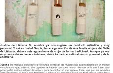 """""""Justina de Liébana. Su nombre ya nos sugiere un producto auténtico y muy personal"""", en la revista Viajeros"""