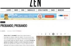 Probando , probando … el orujo eco y gourmet de Justina de Liébana en el suplemento ZEN del diario El Mundo