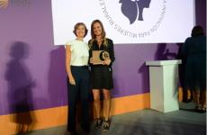 Justina de Liébana recibe el premio Excelencia a la Mujer Rural en el ámbito de la Innovación